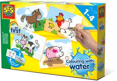 SES Creative Colouring With Water Farm Animals