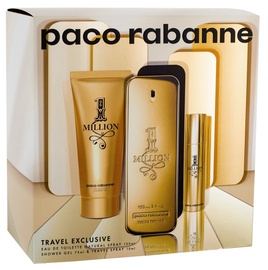 Paco Rabanne 1 Million 100ml EDT + 75ml Shower Gel + 10ml EDT