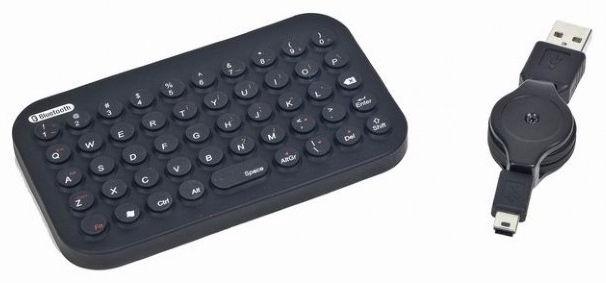 Gembird Bluetooth Mini Flexible Keyboard US Black
