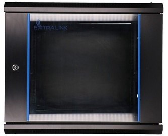 Extralink 9U 600x600 Wall-Mounted Rackmount Black