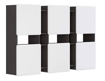 Seinariiul Black Red White Possi, hall, 180x32x115 cm
