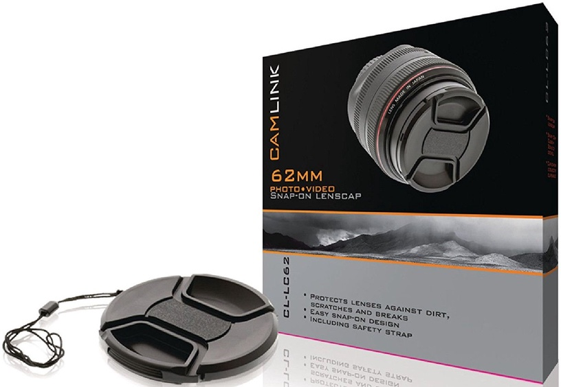 CamLink Snap-On Lens Cap 62mm