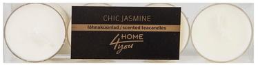 Home4you Teacandles 4pcs Chic Jasmine White