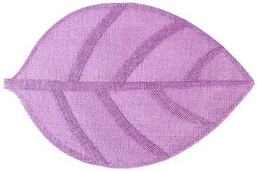 Home4you Leaf Table Mat Purple