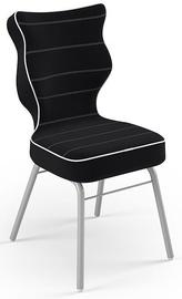 Детский стул Entelo Solo Size 4 JS01, черный/серый, 340 мм x 775 мм