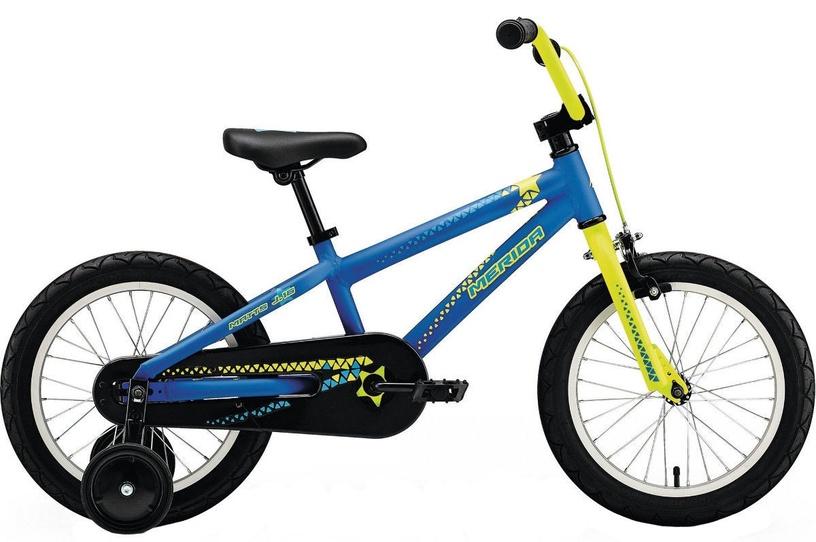 "Vaikiškas dviratis Merida Matts J16 16"" Blue Yellow 18"