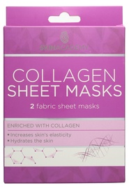 Skin Academy 2 Fabric Sheet Masks Enriched With Collagen 2pcs