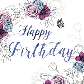 Clear Creations Lavender & Purple Birthday Card CL1407