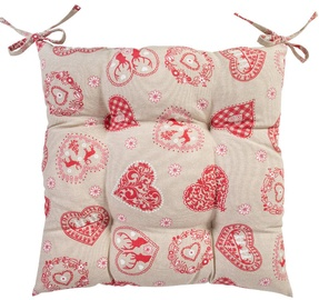 Home4you Chair Cover LOVE & LOVE 40x40cm Light