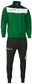 Givova Campo Tracksuit Black/Green XL
