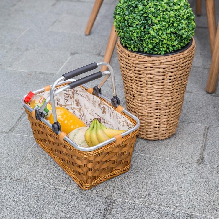 Home4you Shopping Cart Apollo 44x26xH20cm Brown