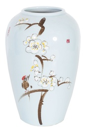 Home4you Yoko Ceramic Vase Cherry Blossoms H32cm Light Blue