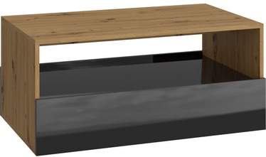 Kafijas galdiņš Top E Shop Rebel, melna/ozola, 900x540x400 mm