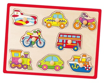 Viga Wooden Flat Puzzles Vehicle 50016