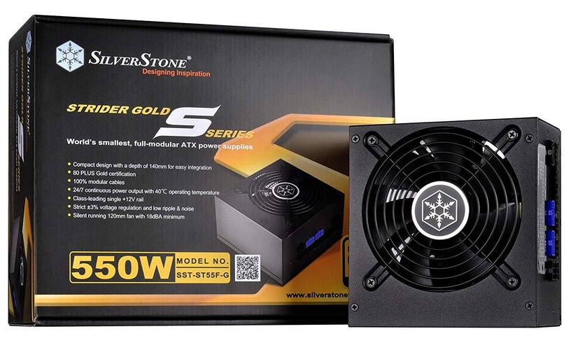 SilverStone PSU Strider 80 Plus Gold ST55F-G V2.0 550W