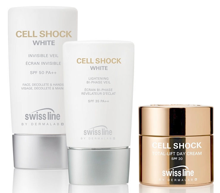 Swiss Line Cell Shock White Invisible Bi Phase Veil SPF50 65ml
