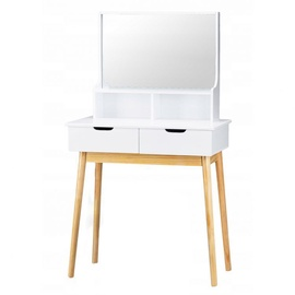 GoodHome 757 Dressing Table w/ Cosmetic Mirror White/Pine