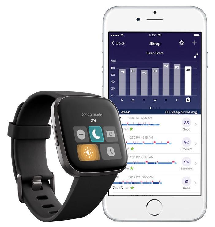 Išmanusis laikrodis Fitbit Versa 2 Black Carbon Aluminium