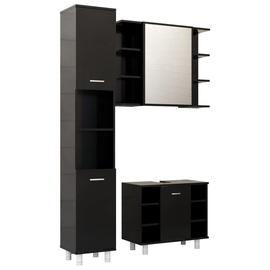 Комплект мебели для ванной VLX 3056953, черный, 30 x 30 см x 179 см