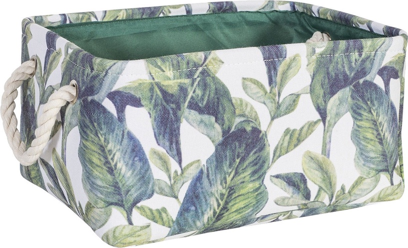 Home4you Tropic 5 Basket 31x22xH14cm Tropic Leaves 83595
