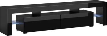 TV galds Cama Meble Toro 200, melna, 2000x400x410 mm