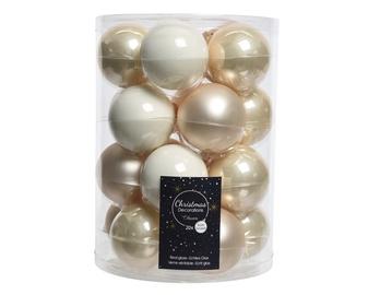 Елочная игрушка Decoris 142204, золотой/белый, 60 мм, 20 шт.