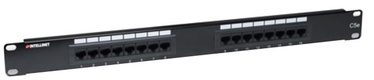 Intellinet Patch Panel UTP CAT 5e RJ45 x 16 Black