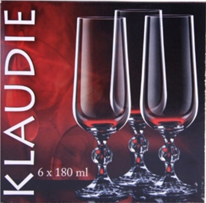 Bohemia Klaudie Champagne Glass Set 6pcs
