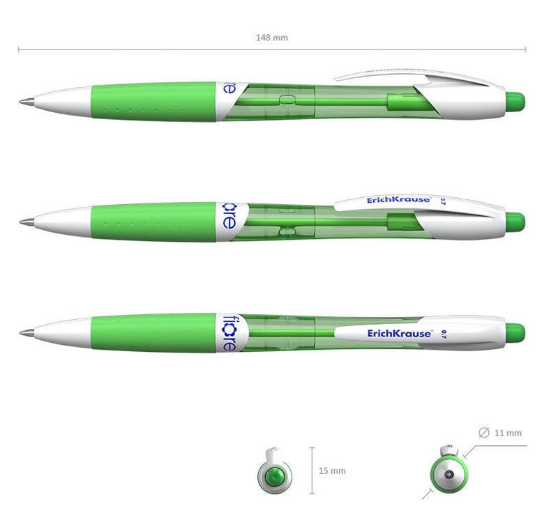 ErichKrause Ballpoint Pen Fiore 0.7mm Blue