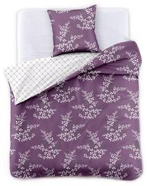 DecoKing Hypnosis Calluna Bedding Set Violet/Cream 135x200/80x80