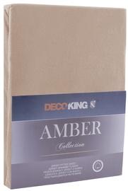 Palags DecoKing Amber, smilškrāsas, 90x200 cm, ar gumiju