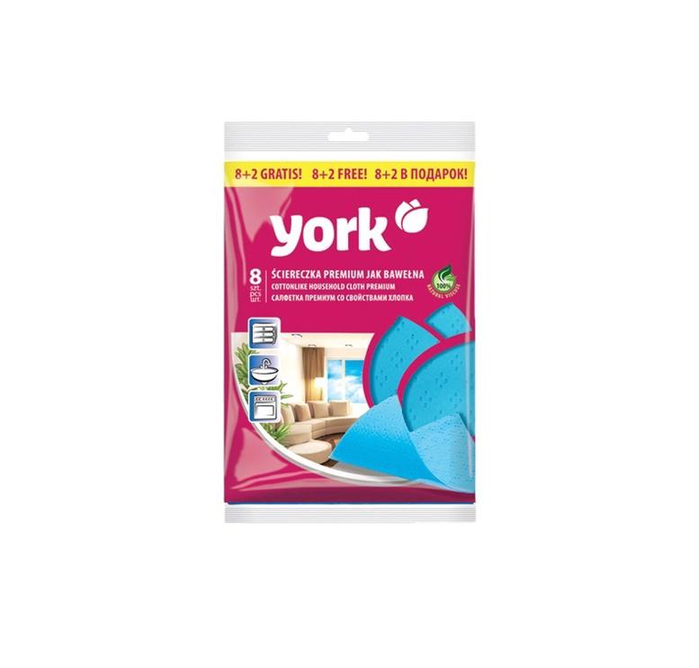Universalus šluosčių komplektas York Premium, 10 vnt