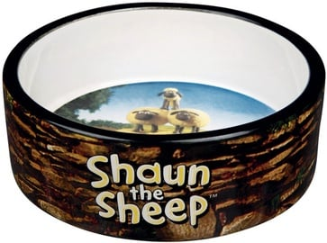 Trixie Shaun the Sheep Ceramic Bowl Brown 300ml