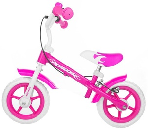 Milly Mally Dragon Balance Bike With Brakes Pink 0160