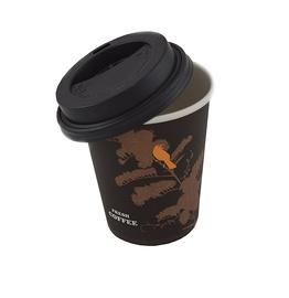 Vienkartinių puodelių su dangteliais komplektas, 230 ml, 10 vnt