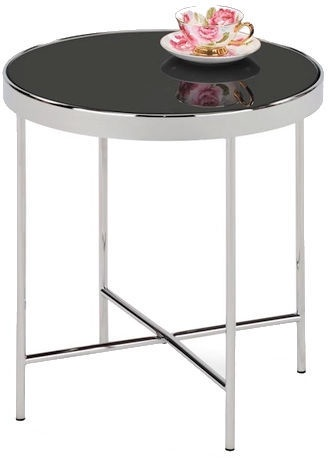 Kavos staliukas Signal Meble Loft Gina C Black/Chrome, 430x430x450 mm