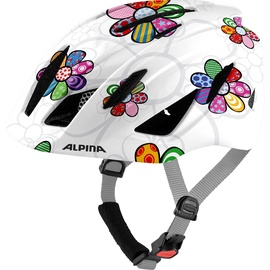 Alpina Pico Kids Helmet White/Colorful Flowers 50-55cm