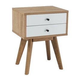 Signal Meble Scandic Nightstand White/Oak