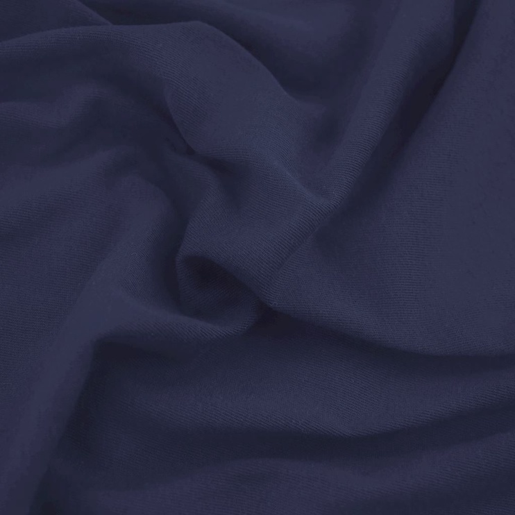 Palags DecoKing Amber, zila, 120x200 cm, ar gumiju
