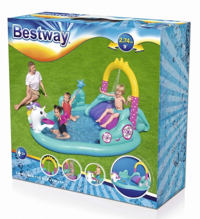 Bestway Inflatable Pool With Slide Unicorn 53097