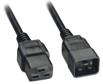 Akyga Power Cable  IEC C20 / IEC C19 1.8m Black