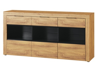Szynaka Meble Kama 47 Chest Of Drawers Camargue Oak/Black