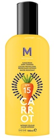 Mediterraneo Sun Carrot Sunscreen Dark Tanning Lotion SPF15 100ml