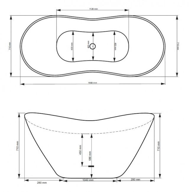 Vonia Besco Viya, 160 x 70 x 71 cm