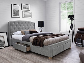 Signal Meble Madison Bed 219x170cm Grey