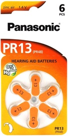HEARING AID  BATTERY PANASONIC PR13L/6DC