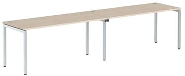 Skyland Xten-S Office Desk XWST 3270 Tiara Beech/Aluminium
