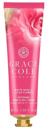 Rankų kremas Grace Cole Hand & Nail White Rose & Lotus Flower, 30 ml