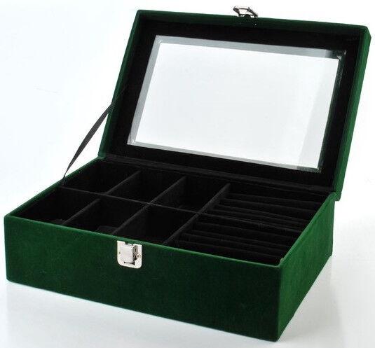Mondex Ramona Casket Green 27.5x18.5x10cm