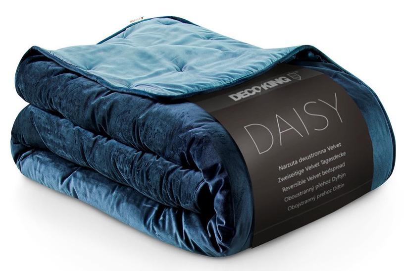 Gultas pārklājs DecoKing Daisy Dark Blue/Sky Blue, 170x210 cm